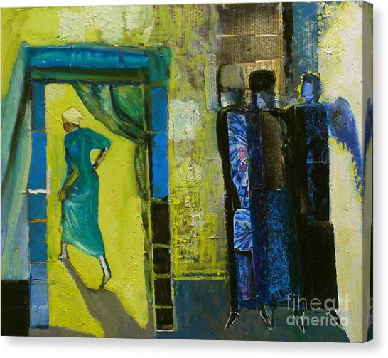 Old Testament Canvas Print - Sarah And The Three Angels by Richard Mcbee