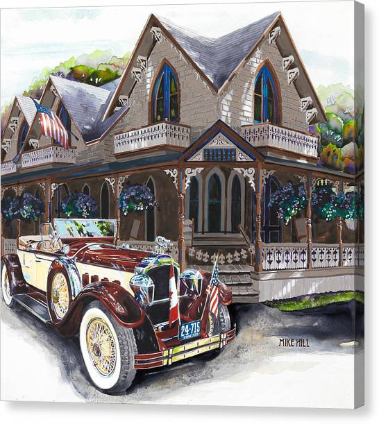 Marthas Vineyard Canvas Print - Sarah Elizah The Packard by Mike Hill