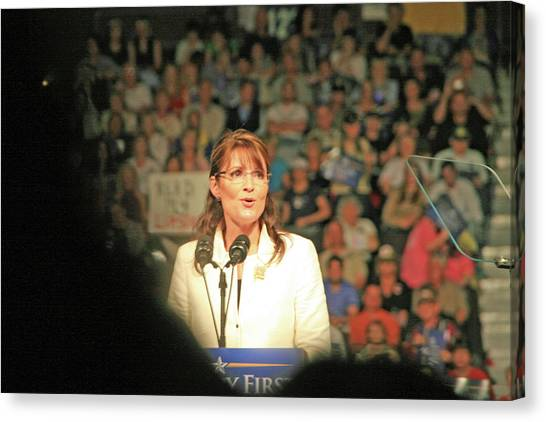 Sarah Palin Canvas Print - Sarah Palin by Debbie Colombo