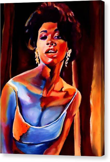 Sarah Vaughan Canvas Print by Vel Verrept
