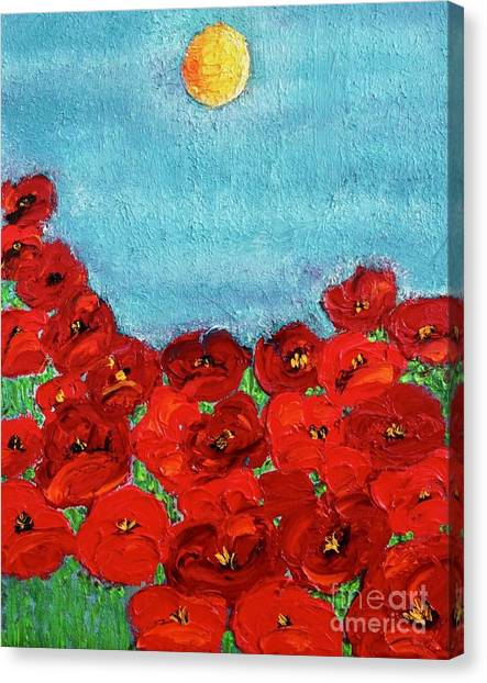 Sarah's Poppies Canvas Print