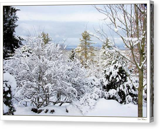 Saratoga Winter Scene Canvas Print