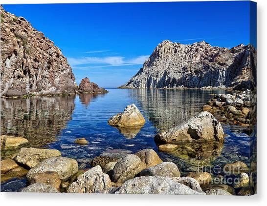 Sardinia - Calafico Bay  Canvas Print