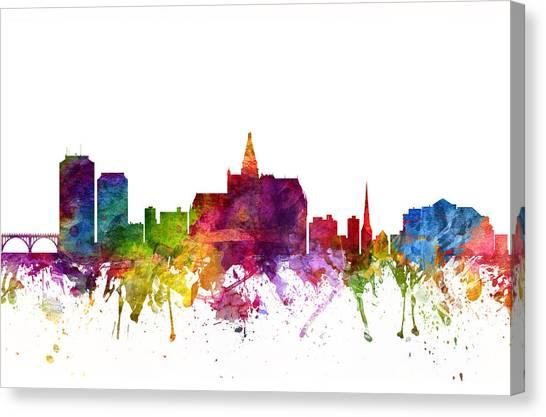 Saskatchewan Canvas Print - Saskatoon Canada Cityscape 06 by Aged Pixel