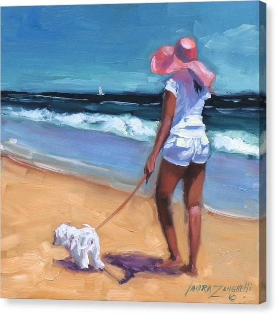 Girl In Landscape Canvas Print - Sassy Jr by Laura Lee Zanghetti