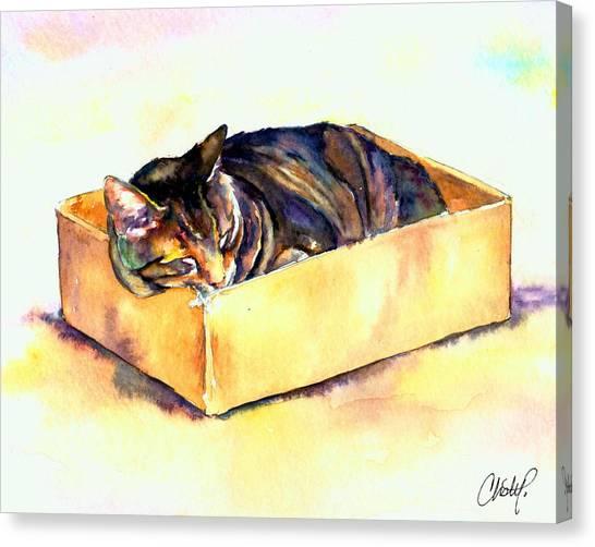 Sassy Sleeping Canvas Print