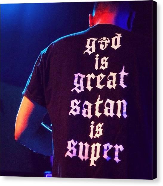 Satan Canvas Print - #satan #god #metal #doom #sludge by Valentina Ceccatelli