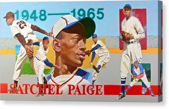 Satchel Paige Canvas Print