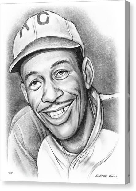 Pitchers Canvas Print - Satchel Paige II by Greg Joens