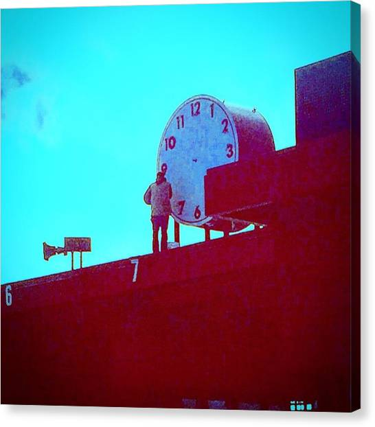 Repairs Canvas Print - Art Deco Clock With No Hands by Eugene Evon