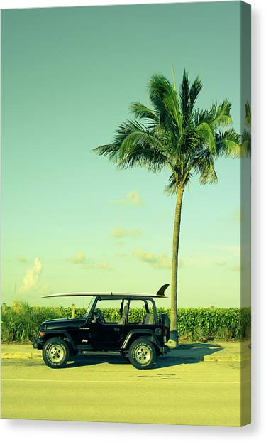 Jeep Canvas Print - Saturday by Laura Fasulo