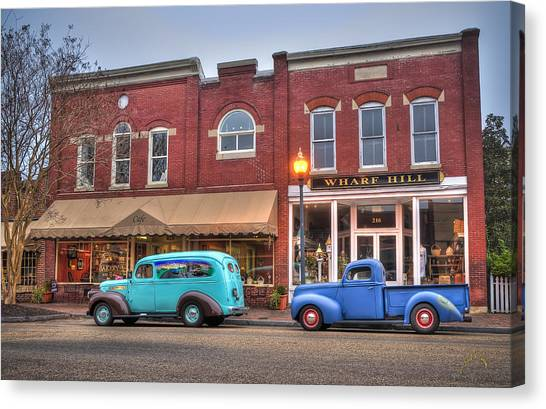 Canvas Print featuring the photograph Saturday Morning On Main Steet by Williams-Cairns Photography LLC