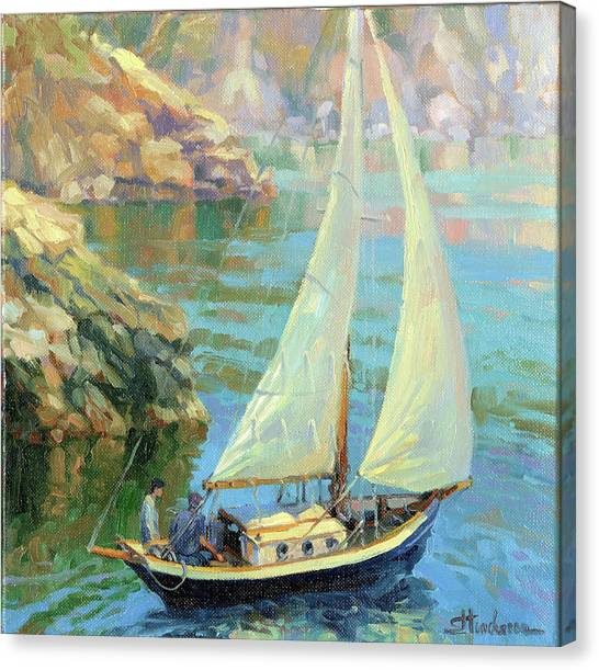 Pacific Coast Canvas Print - Saturday by Steve Henderson