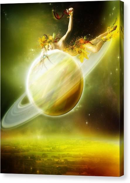 Saturn Canvas Print - Saturn by Karen Koski