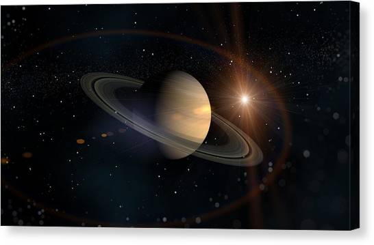 Saturn Canvas Print - Saturn by Maye Loeser
