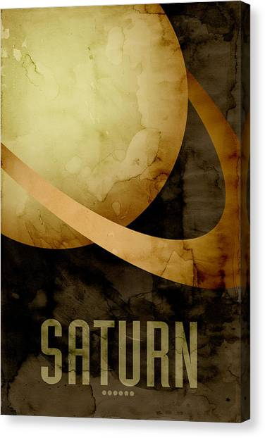 Outer Space Canvas Print - Saturn by Michael Tompsett