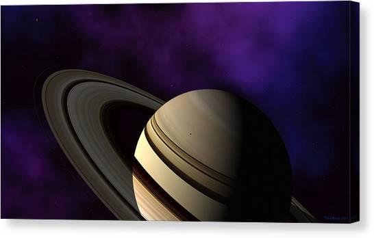 Saturn Rings Close-up Canvas Print