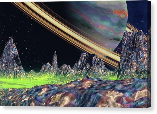 Saturn View Canvas Print by David Jackson