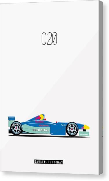 Sauber Petronas C20 F1 Poster Canvas Print