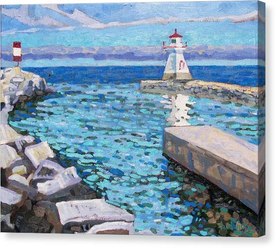 Saugeen Range Light Canvas Print