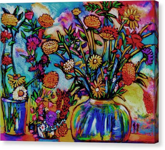 Sauvie Island Flowers Canvas Print by Angelina Marino