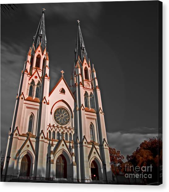 Savanna Georia Church Color Infrared 74 Canvas Print by Rolf Bertram
