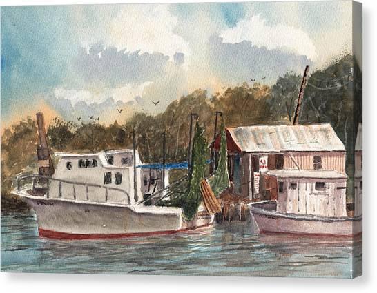 Savannah Bait - Coastal Watercolor Canvas Print