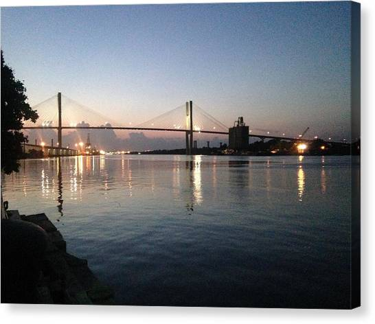 Savannah Bridge Evening  Canvas Print