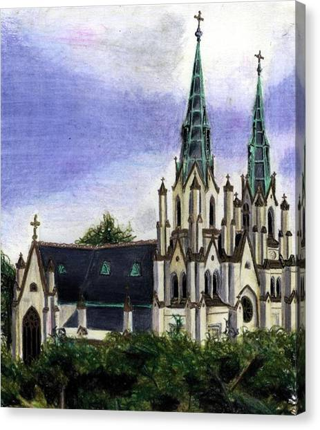 Savannah Cathedral Canvas Print by Scarlett Royal