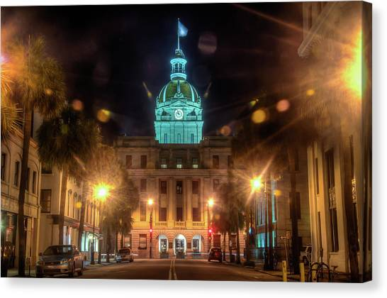 Savannah City Hall Canvas Print