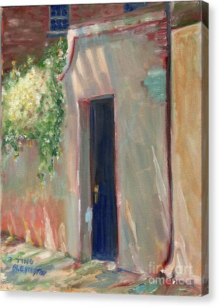 Savannah Garden Gate Canvas Print