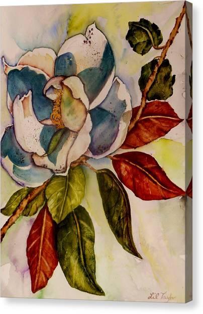 Iced Tea Canvas Print - Savannah Magnolia II by Lil Taylor