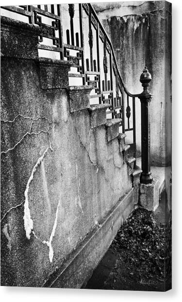 Savannah Stairway Black And White Canvas Print