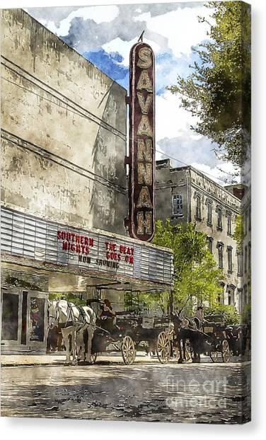 Savannah Theatre Canvas Print