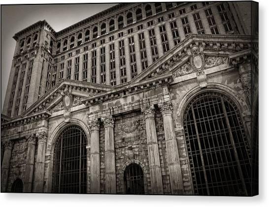 Save The Depot - Michigan Central Station Corktown - Detroit Michigan Canvas Print