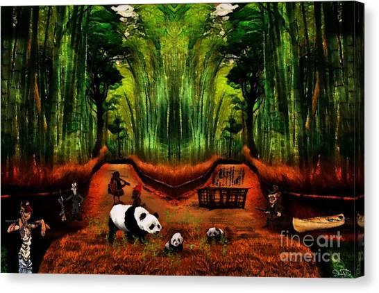 Save The Panda Canvas Print