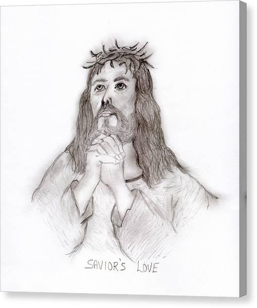 Savior's Love Canvas Print