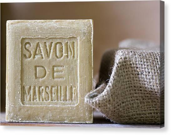 Olive Oil Canvas Print - Savon De Marseille by Frank Tschakert
