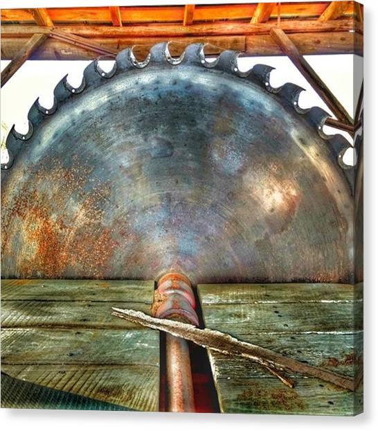 Saws Canvas Print - #sawmill #mill #saw #farm by Craig Uszak
