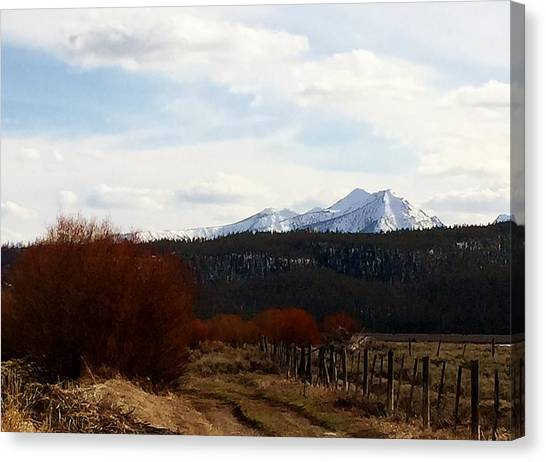 Boise National Forest Canvas Print - Sawtooth Mountain Range Distance by Sandra M