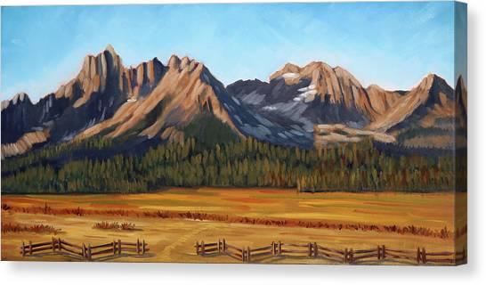 Sawtooth Mountains - Iron Creek Canvas Print