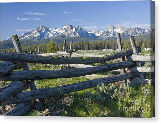 Sawtooth Range Canvas Print