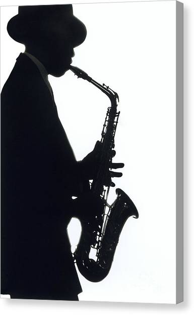 Saxophone Canvas Print - Sax 2 by Tony Cordoza