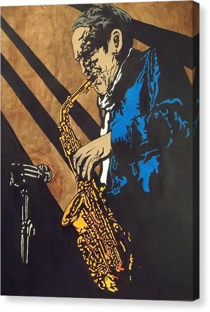Sax After Dark Canvas Print by Shane Hurd