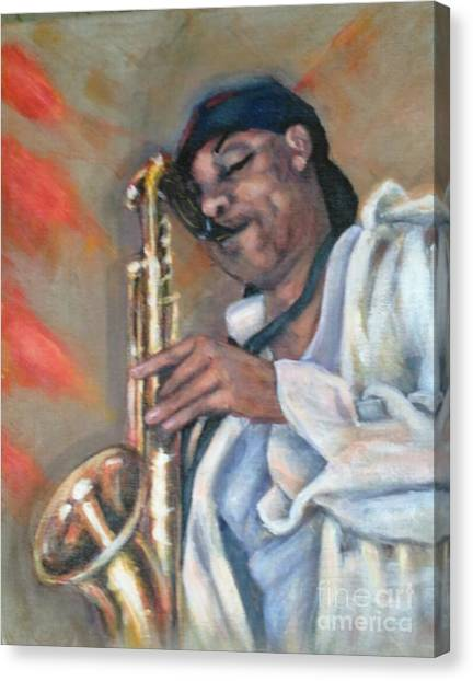 Sax And Linen Canvas Print