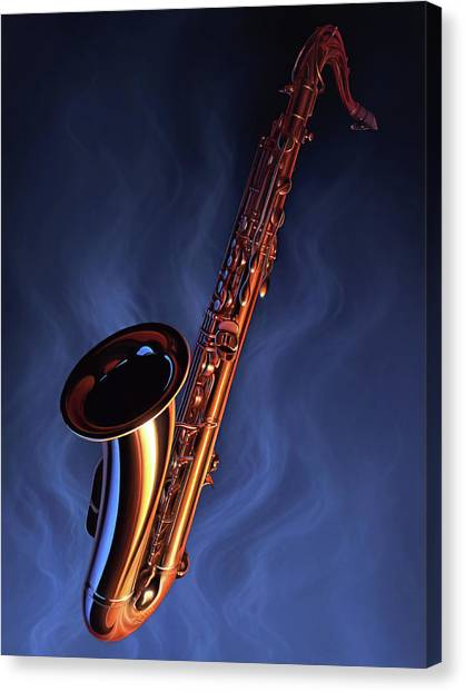Brass Instruments Canvas Print - Sax Appeal by Jerry LoFaro