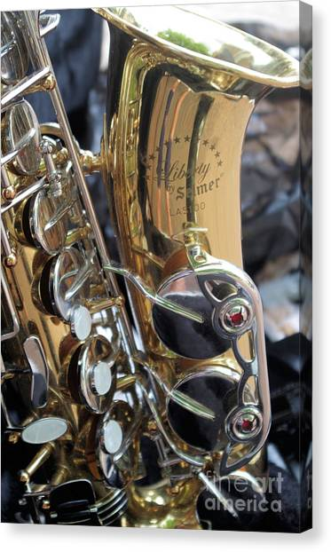 Sax In The City Canvas Print