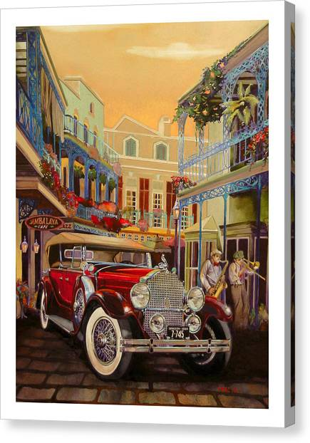 Jambalaya Canvas Print - Sax In The City by Mike Hill