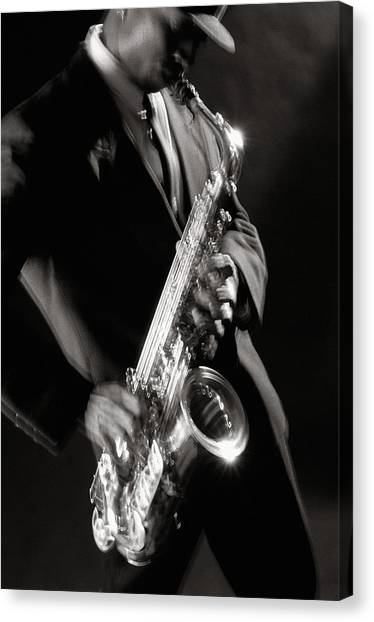 Sax Man 1 Canvas Print