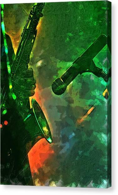 Sax Man Canvas Print